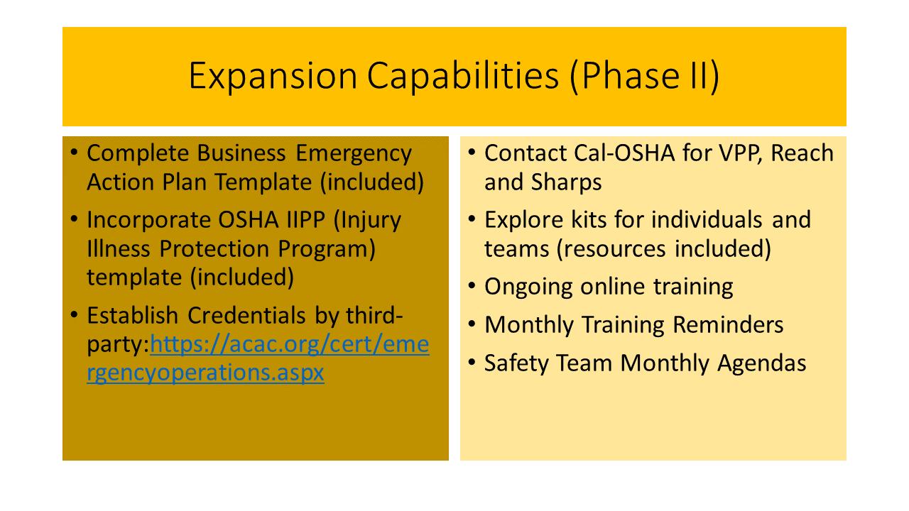 BERT - Streamlining OSHA Compliance | Emergency Action Planning | EAP