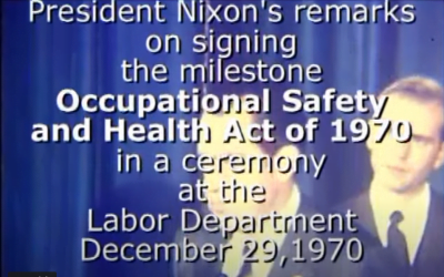 OSHA turns 50 today saving life and limb since December 31, 1970